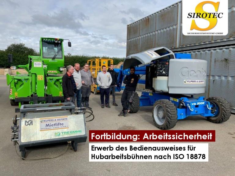 Mitarbeiterschulung Hebebühnen – Sirotec Sicherheitssysteme GmbH